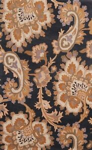 Floral Paisley Traditional Oriental Area Rug Wool Hand-Tufted Foyer Carpet 5'x8'