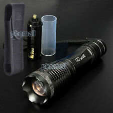 UltraFire CREE XML T6 LED 10000LM 18650/AAA Flashlight Focus Torch Lamp +Holster