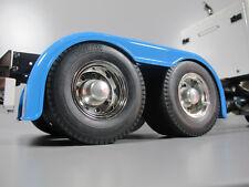 Pair Aluminum Rear Hubs Cover Wheel Rim Lock Nut Tamiya RC 1/14 Grand Hauler