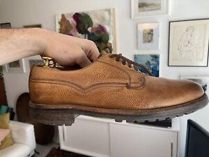 Joseph Cheaney Tan Commando Sole Derby Shoes 10