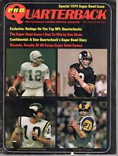 1974 (Jan.) Pro Quarterback Football magazine, Terry Bradshaw, Fran Tarkenton~Fr