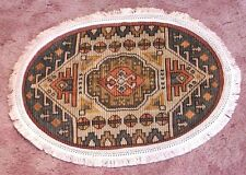 Fantastic Handmade Doilie Table Cover w Native American Influenced Motif