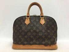 "Auth Louis Vuitton Monogram Alma Hand Bag Vintage 0C040070n"""