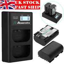 2 x LP-E6 Li-ion Battery + Charger For Canon EOS 6D 7D 60D 60Da 70D 80D DSLR 5DS