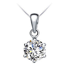 "1.5 CT Diamond Sterling Silver Necklace 18""S925 Chain love heart gift Her MOM"