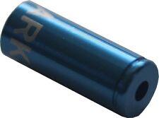 4 blaue Alu-Endkappen von Clarks für 4 mm Bowdenzughüllen