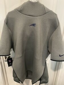 Men's Nike Gray New England Patriots Sideline Repel Short Sleeve Pullover Hoodie
