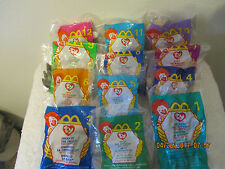 Collectibles Toys Mc Donalds TY 12 Piece Set.  1999 Original.  Still in the bag.