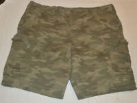 Men's George Green Camouflage Camo Stretch Cargo Shorts Size 42, 44, 46