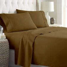 """Best Price 4 Pieces bed Sheet Set 100%Cotton California King 8""""Deep Taupe Solid"""