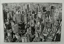 More details for new york pencil drawing picture postcard style