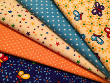 Fat Quarters Bundles STOCK CLEARANCE Craft Sewing Bunting Butterfly Star Flowers