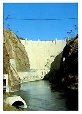 Hoover Dam Postcard Nevada Arizona Border Colorado River Broad Crest New