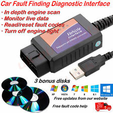 ELM 327 1.3 1.4 1.5 usb laptop car diagnostic cable OBD CAN BUS ALL  WINDOWS
