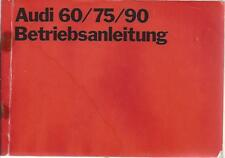 AUDI  60 / 75 / 90  F103 Betriebsanleitung 1970 Bedienungsanleitung Bordbuch BA