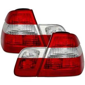 2 FEUX ARRIERE BMW SERIE 3 E46 BERLINE 09/2001 à 10/2005 BLANC ROUGE CRISTAL