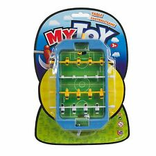 Mini Table Football Game Ball Goal Travel Portable Players Soccer Top Boys Field