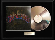 JOHN FOGERTY CREEDENCE CLEARWATER RARE WHITE GOLD SILVER PLATINUM TONE RECORD