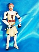 "OBI-WAN KENOBI with Blue Lightsaber 3.75"" 2008 Action Loose Figure Star Wars"