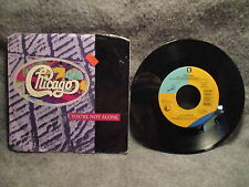 "45 RPM 7"" Record Chicago You're Not Alone & It's Alright 1986 Warner 7-27757 NM"
