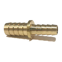 """1pc Brass Barb 5//8/"""" Hose ID to 3//8/"""" Hose ID Reducer Fitting MettleAir 129-10-6"""