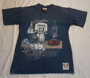 Vintage Dallas Cowboys 90s Nutmeg Mills Single Stitched Tshirt (Size- Large) USA