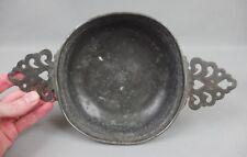 ancienne écuelle en étain 18ème avec poinçons / antique tin bowl 18th C.