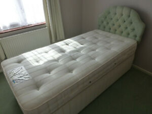 RELYON Single Bed and Luxury Mattress and Headboard