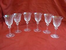SAINT LOUIS,TOMMY, FRENCH CUT CRYSTAL PORTO,APERITIF GLASSES,20th CENTURY.