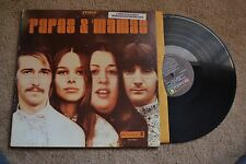 Papas And Mamas Fold Out W/ Sticker Rock Record lp VG++