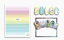Nail Art 3D Decal Stickers Strips Rainbow Multicolored CA32