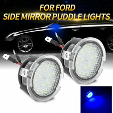 2X Blue Full LED Side Mirror Puddle Lights For Ford F150 Raptor Edge Taurus Flex