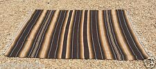 "Mexican Blanket Sarape Multi-Color Brown #1  ""84x60"" Made in Mexico."
