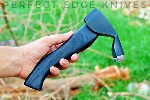 Custom Black Bowl Adze Woodworking Tool Handmade Curved Adze Bevel Edged by PEK