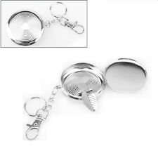 Useful Pocket Portable Stainless Steel Round Cigarette Ashtray Keychain Keyring