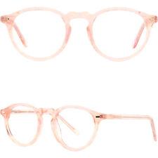 Leicht Damenbrille Kunststoff Brillen Rund Gestell Vollrand Brillenfassung Rosa