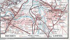 Dresden + Leipzig 1901 orig. Eisenbahn-Neben-Atlaskarten Stötteritz Plauen Cotta