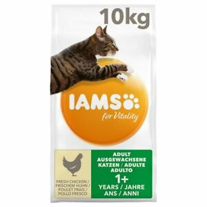 IAMSfor Vitality Adult Cats High Quality Fresh Chicken Dry Food *10kg EconPack