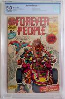 Forever People #1 CBCS 5.0 DC 1971 1st Full App Darkseid 1st App Forever People