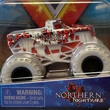 Monster Jam, NORTHERN NIGHTMARE - WHITE Truck, Die-Cast Vehicle, 1:64 Scale