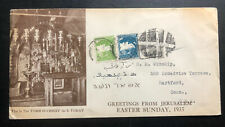 1935 Jerusalem Palestine Postage Due Cover To Hartford CT USA Tomb Of Christ