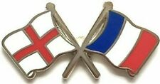 More details for england & france friendship flag metal lapel pin badge free postage