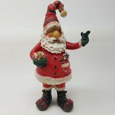 "Resin Santa Claus Figurine 7.5"" Christmas Decoration Holiday Christmas"