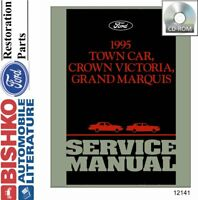 OEM Repair Maintenance Shop Manual CD Ford Crown Vic/Town Car/Grand Marquis 1995