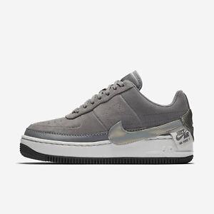 Nike Air Force 1 Jester Low Women's Size 8 Gunsmoke Grey Suede Shoes BQ3163-001