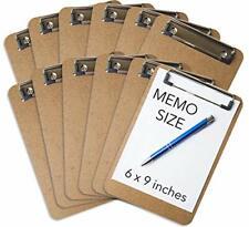 Mini Clipboard 6 X 9 Set Of 12 Memo Clipboards Low Profile Clip Classroom S