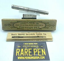 Vintage Rare MOORE STERLING SILVER Overlay by Heath Fountain Pen  Near Mint BOX