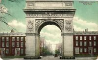 Vintage Postcard - 1910's Washington Arch New York NY Un-Posted #3392