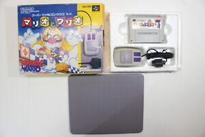 Mario & Wario Boxed Mouse SFC Nintendo Super Famicom SNES Japan Import I7344