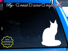Maine Coon Cat -Vinyl Decal Sticker -Color -High Quality